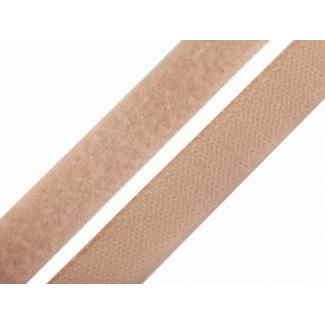 Scratch 3.0cm BOUCLE et CROCHET Beige Foncé (au mètre)