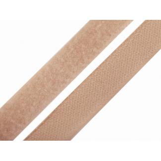 Scratch 3.0cm HOOK & LOOP Dark Beige (per meter)
