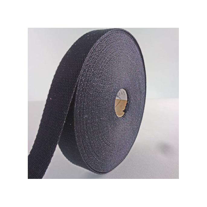 Sangle coton 30mm Noir (bobine 15m)