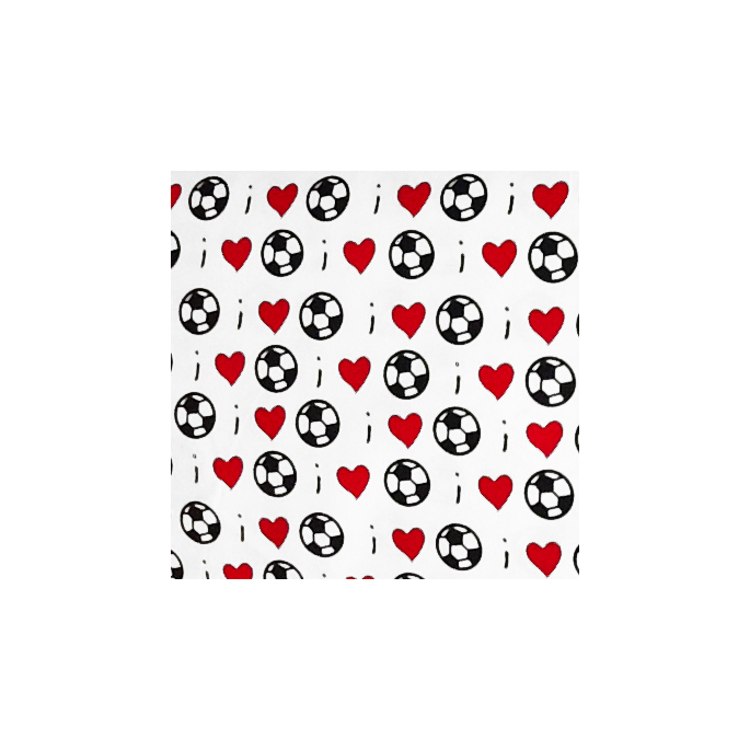 Coton imprimé Love Football Timeless Treasures (par 10cm)