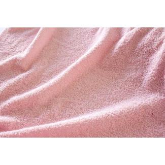 Eponge de coton Oekotex Laize 160cm Rose clair (au mètre)