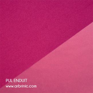 PUL Oekotex Enduit Rose Azalée (par 10cm)