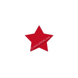 Pressions KAM T5 - Rouge Foncé B54 - 20 jeux ETOILES