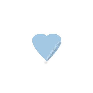 Pressions KAM T5 - Bleu clair B20 - 20 jeux COEURS
