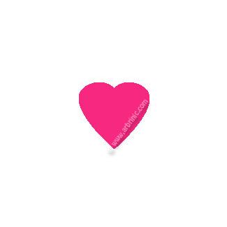 Pressions KAM T5 - Rose Flashy B47 - 20 jeux COEURS