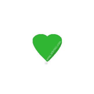KAM Snaps T5 - Kelly Green B51 - 20 HEART sets