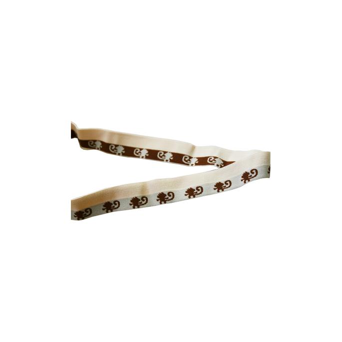 Biais élastique Motif 2.5cm Singes (1m)