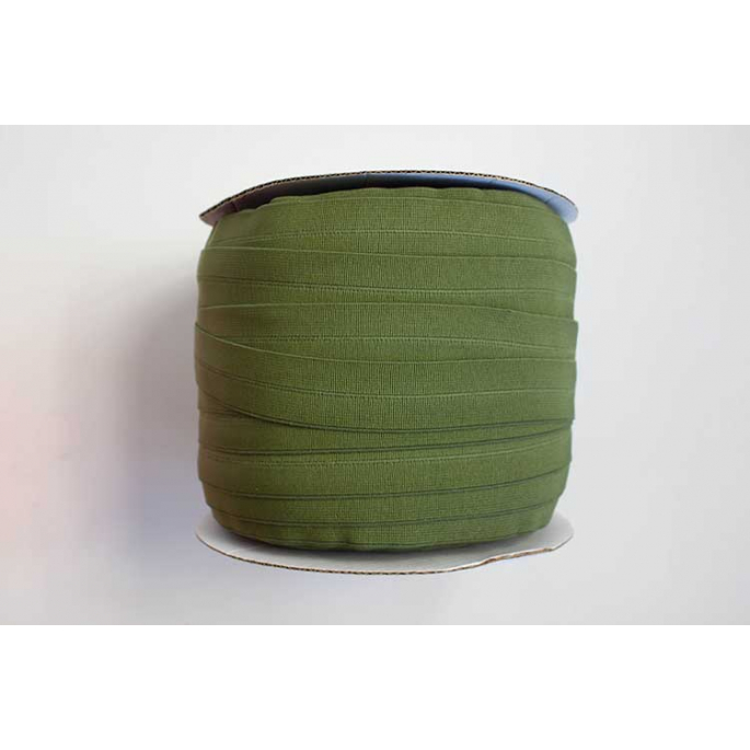 Fold Over Elastic 1 inch Olive green (100m roll)