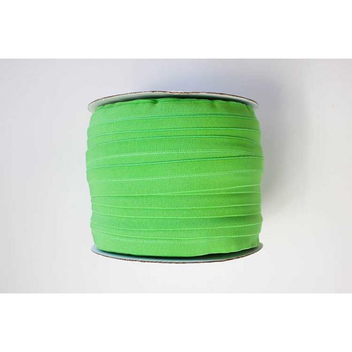 Biais élastique 2.5cm Vert Menthe (Bobine 100m)