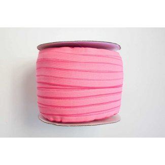Fold Over Elastic 1 inch Neon Pink (100m roll)