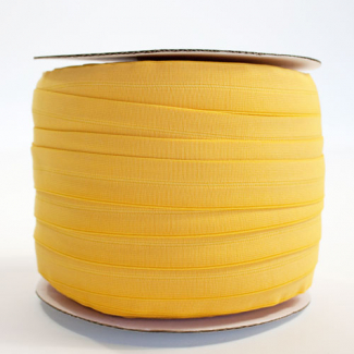 Fold Over Elastic 1 inch Gold yellow (100m roll)