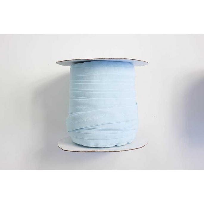 Biais élastique 2.5cm Bleu Clair (Bobine 100m)