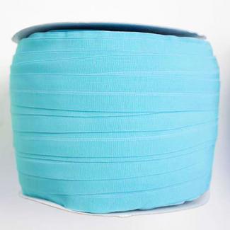 Biais élastique 2.5cm Bleu lagon (Bobine 100m)