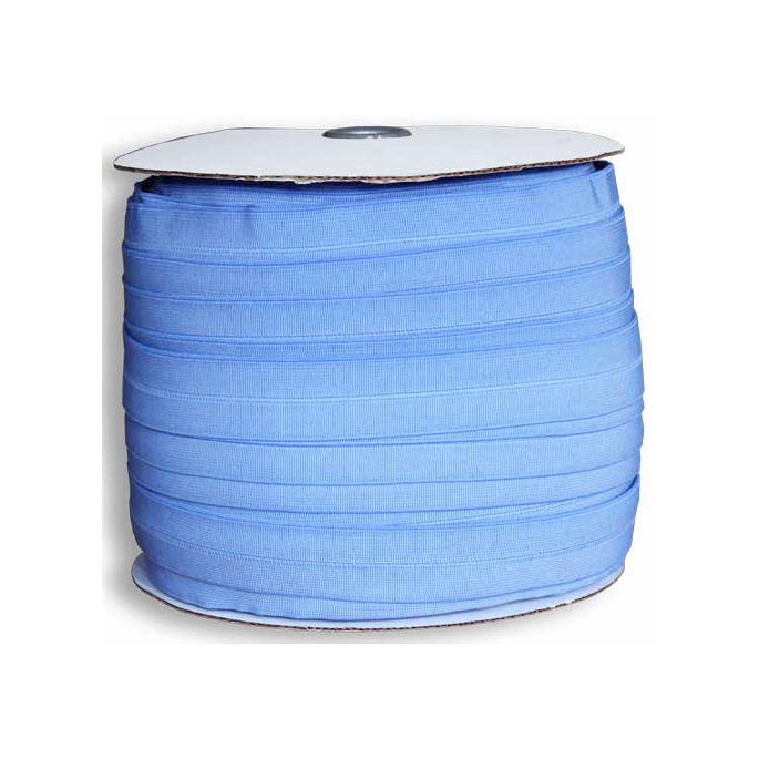Biais élastique 2.5cm Bleu pervenche (Bobine 100m)