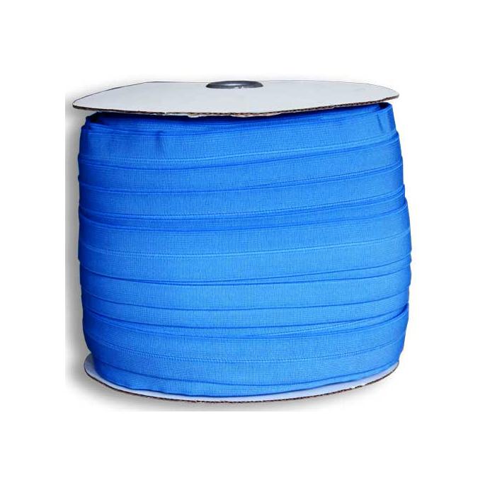 Biais élastique 2.5cm Bleu de France (Bobine 100m)