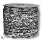 Fold Over Elastic 2.5cm / Zebra (100m roll)
