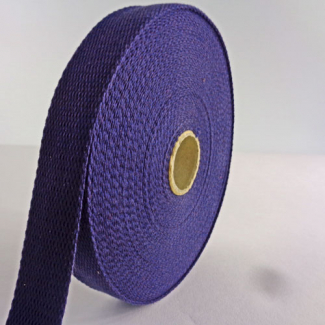 Cotton Webbing 23mm Dark Blue (by meter)