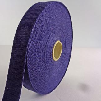 Sangle coton 23mm Bleu Nuit (au mètre)