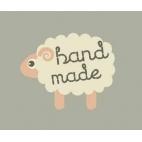 """Etiquettes déco """"Hand made"""" Mouton - Lot de 10"""