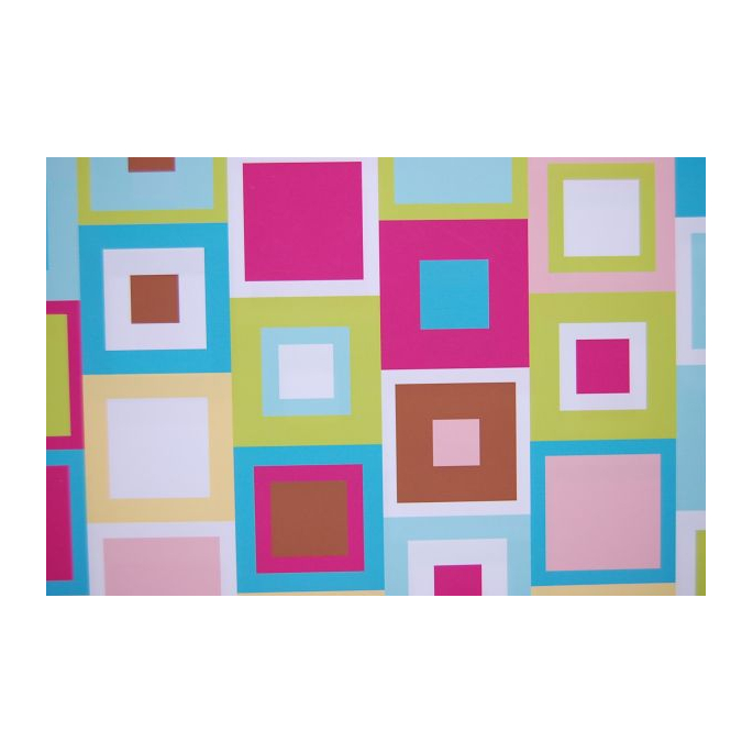 Minky - Cubes Turquoise - Robert Kaufman (per meter)