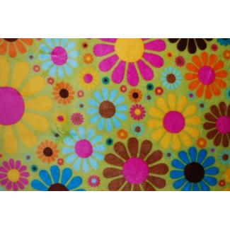 Minky - Fleurs Vert - Robert Kaufman (au mètre)