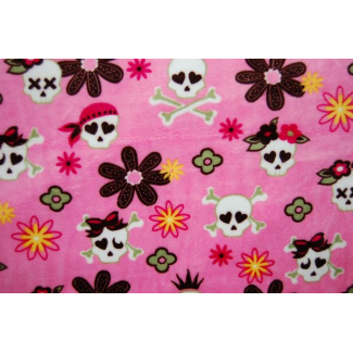 Minky - Pirates Pink pink background - Robert Kaufman (per meter