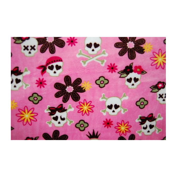Minky - Pirates Pink pink background - Robert Kaufman (per meter