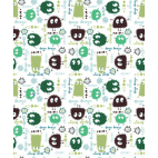 Cotton interlock Green Ooga booga (by meter)