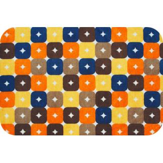 Minky - Brown Orange Foxy Boxy - Robert Kaufman (per meter)