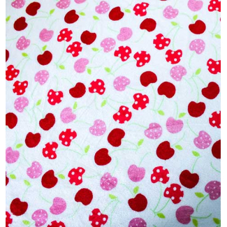 Minky - Cherries - Robert Kaufman (per meter)