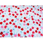 Minky - Blue Cherries - Robert Kaufman (per meterm)