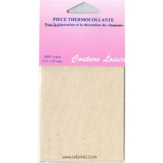 Iron-on mender - Lightweight cotton Eggshell