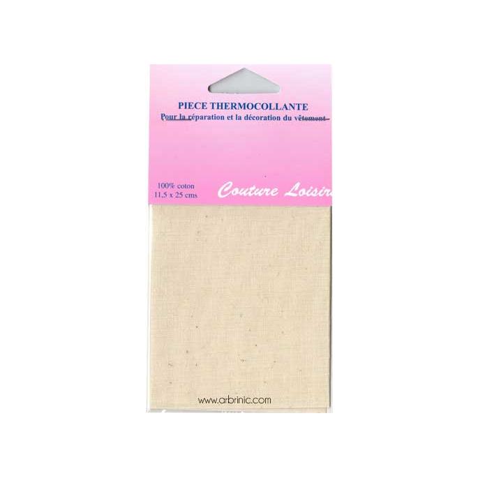Pièce thermocollante - Percale coton Ecru