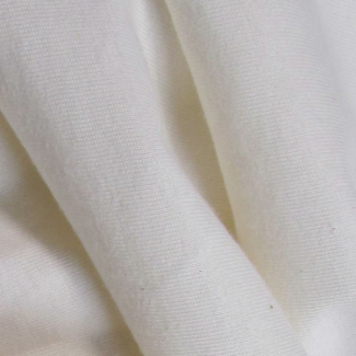 PUL from organic cotton jersey White