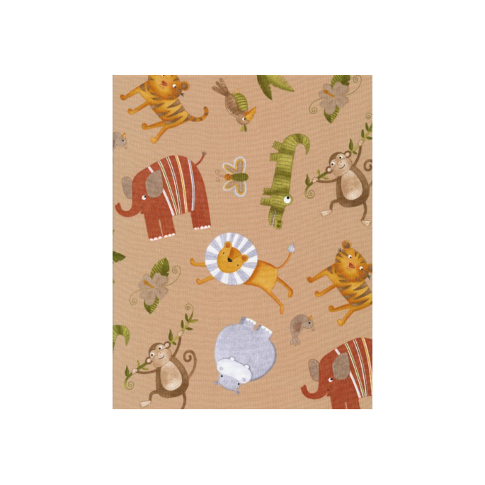 Cotton woven Zoo taupe Timeless Treasures (per 10cm)