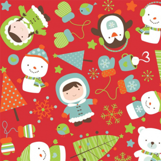 Cotton woven Red Christmas Riley Blake (per 10cm)
