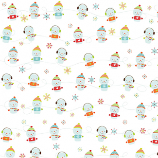 Cotton woven Mini snow men Riley Blake (per 10cm)