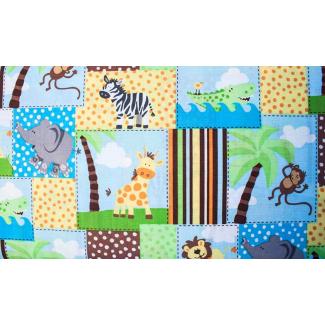 Coton imprimé Safari quadrillage (par 10cm)