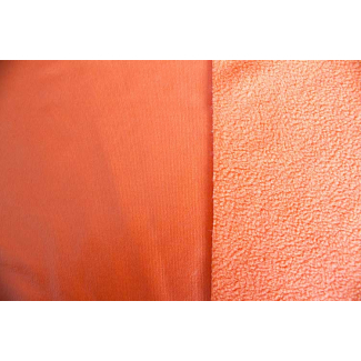PUL micropolaire Orange laize 130cm ( par 10cm)