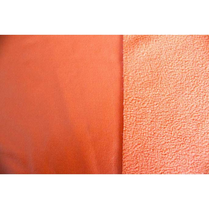 PUL micropolaire Orange laize 130cm ( par 10cm)
