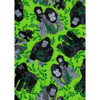Coton imprimé Gorilles Timeless Treasure (par 10cm)