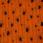 Cotton woven Spiders on Orange Robert Kaufman (per 10cm)