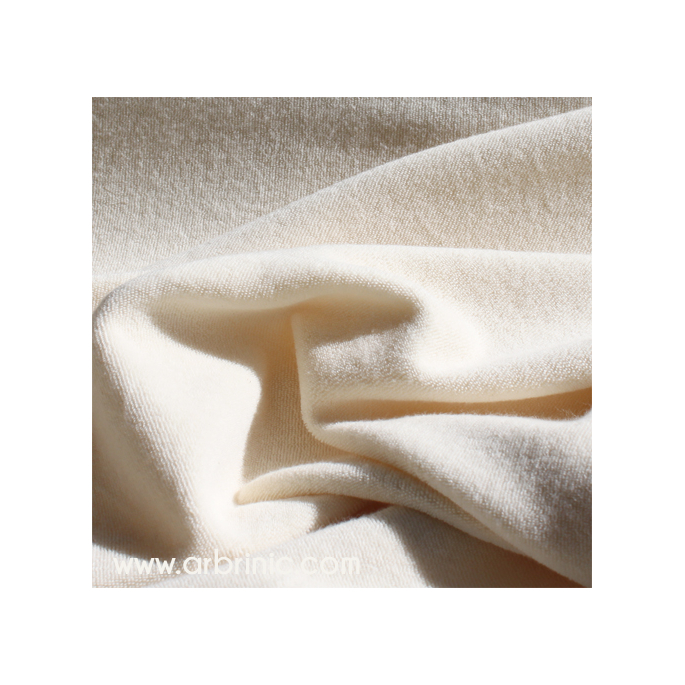 Organic cotton single loop terry Natural