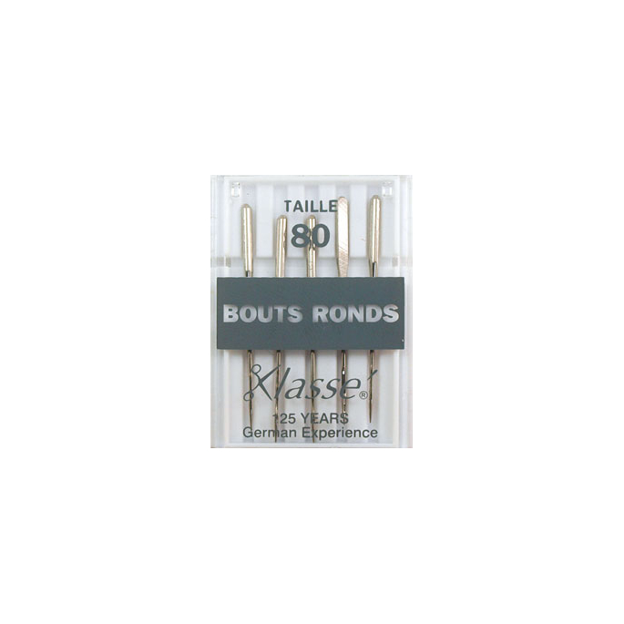 Machine needles Ball point - 80/12 (x5)