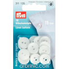 Boutons Lingerie 15mm - blanc (18 boutons)