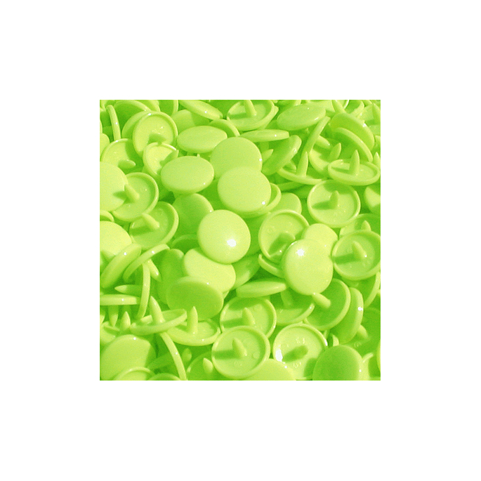 Pressions KAM T3 - Vert lime B50 - 20 jeux RONDS