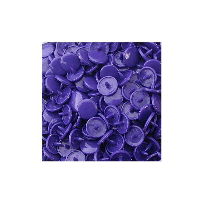 KAM Snaps Size 16 - Purple B35 - 20 sets