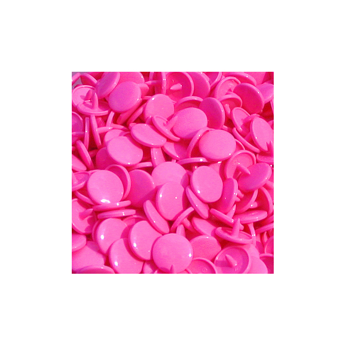 Pressions KAM T3 - Rose flashy B47 - 100 jeux RONDS