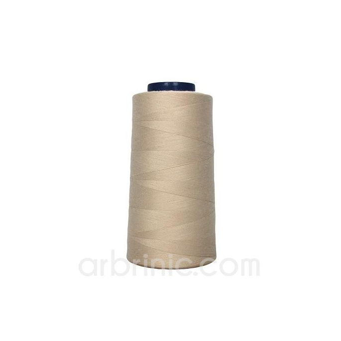 Polyester Serger and sewing Thread Cone (2743m) Beige