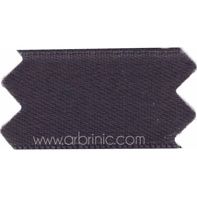 Satin Ribbon double face 11mm Anthracite Grey (by meter)